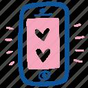 app, heart, love, mobile, smartphone, valentine, wedding