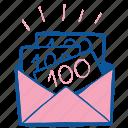 budget, cash, envelope, gift, money, wedding icon