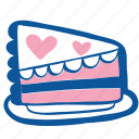 cake, dessert, food, piece, sweet, wedding icon