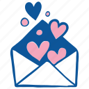 envelope, heart, invitation, like, love, valentine, wedding icon