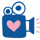 camera, cinema, film, media, movie, video, wedding icon