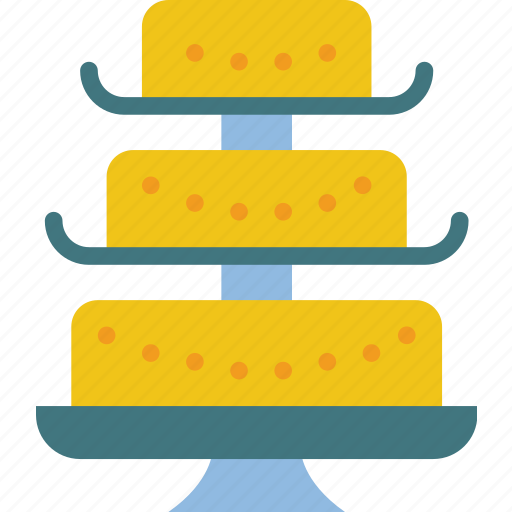 bride, cake, couple, groom, marriage, wedding icon