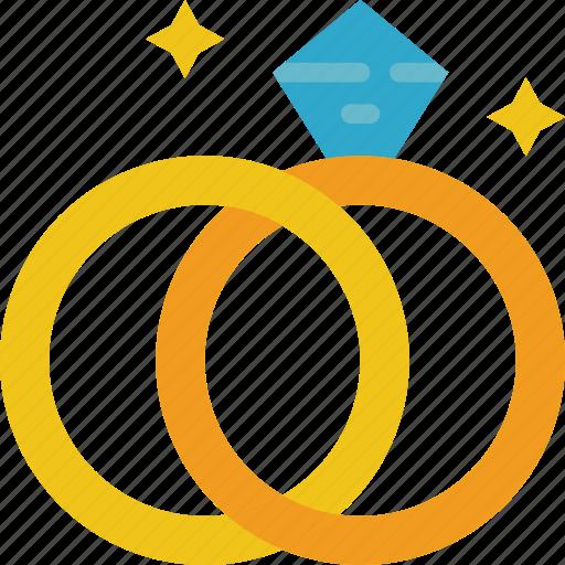 bride, couple, groom, marriage, rings, wedding icon