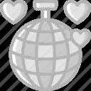 bride, couple, dancing, disco, groom, marriage, wedding icon