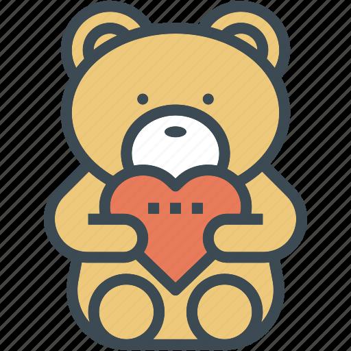 bear, gift, heart, hug, love, wedding icon