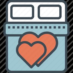 bed, love, valentine, wedding icon
