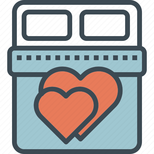 bed, love, valentine, wedding icon