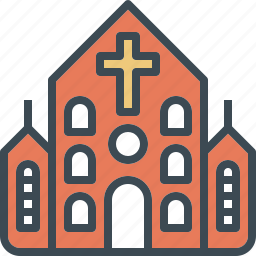 building, christ, church, cross, wedding icon