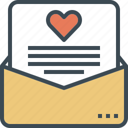 envelope, heart, letter, love, message, wedding icon