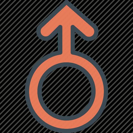 arrow, circle, man, sign icon