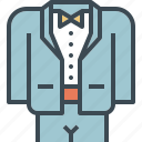 dress, formal, groom, suit, tuxido, wedding icon