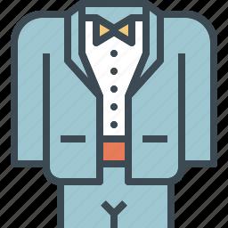 dress, formal, groom, suit, tuxido, wedding icon