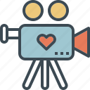 love, presentation, video, wedding icon