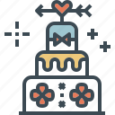 birthday, cake, dessert, valentine, wedding icon