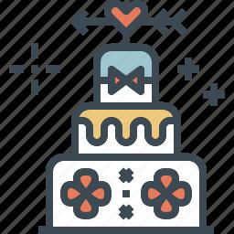 birthday, cake, dessert, valentine, wedding icon
