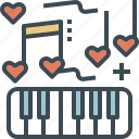 music, note, piano, song, wedding icon
