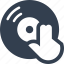 disco, dj, fun, hand, mixing, music, party, play, playing, record, wedding icon