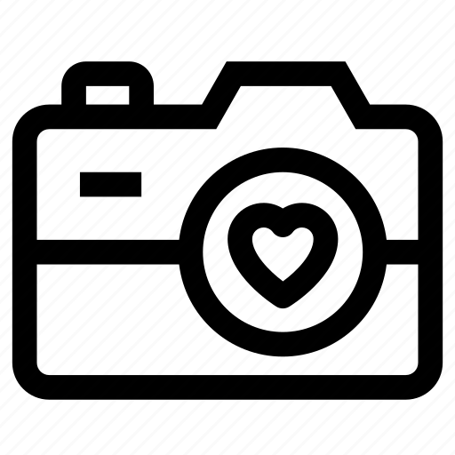 camera, capture, love, video icon