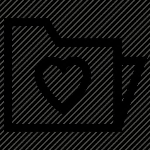 directory, files, folder, love icon