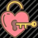 bride, couple, groom, key, lock, marriage, wedding