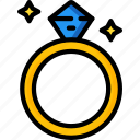bride, couple, groom, marriage, ring, wedding icon