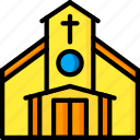 bride, church, couple, groom, marriage, wedding icon