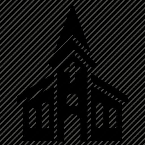 building, catholic, chapel, christian, church, cross, religion icon