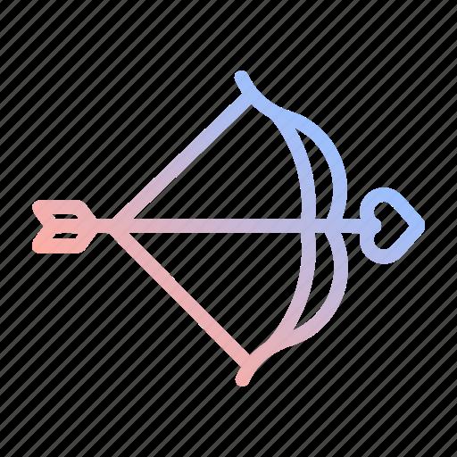 arrow, bow, cupid, heart, love, valentines, wedding icon
