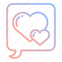 couple, heart, love, marriage, romance, valentines, wedding icon