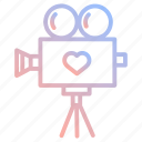 cinema, film, love, movie, valentines, video, wedding icon