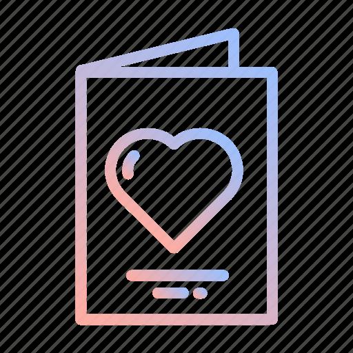 card, heart, invitation, love, romance, valentines, wedding icon
