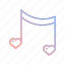 heart, love, music, romantic, song, valentines, wedding icon