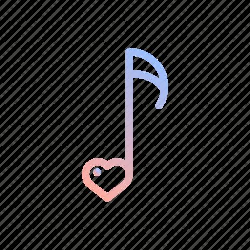 heart, love, music, note, romantic, valentines, wedding icon