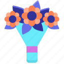 bouquet, bridal, flower, flower bouquet icon