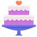 birthday cake, cake, wedding cake icon