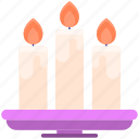 candles, candlestick, fire, flame icon