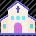 chapel, church, gospel icon