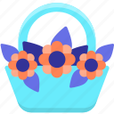flower basket, flowers icon