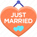 just married, just married sign, married icon