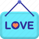 love, love sign icon