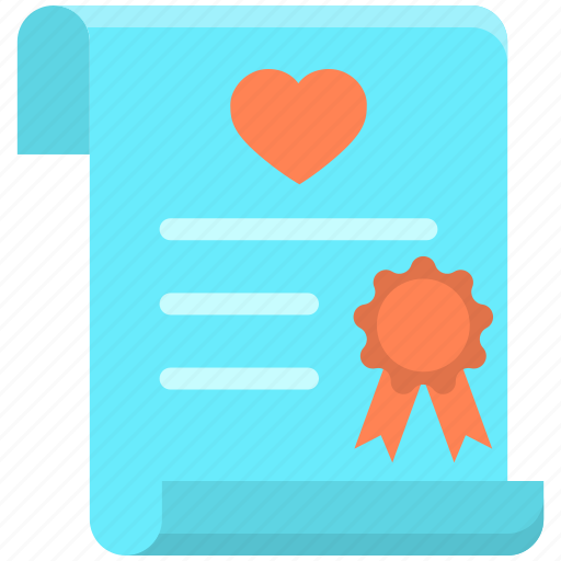 agreement, certificate, contract, marriage icon
