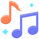 music, musical note, musical notes icon