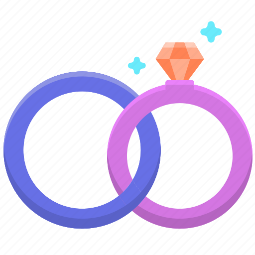 couple ring, rings, wedding ring, wedding rings icon