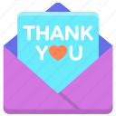 thank you, thank you card icon