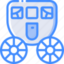bride, carriage, couple, groom, marriage, wedding icon