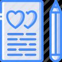 bride, couple, marriage, registar, sign, the, wedding icon