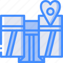bride, couple, groom, location, marriage, wedding icon