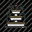 bride, heart, love, marriage, party, romance, wedding icon