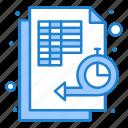 data, flowchart, management, time, timeline