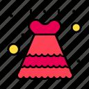 bride, dress, frock, lace icon